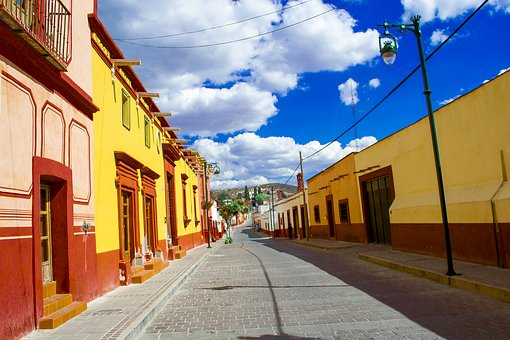 Street, Architecture, City, Sidewalk, Travel, Tlaxcala