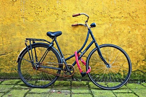 Bicycle, Vehicle, Retro Bike, Wheel, Chain, Chain Lock