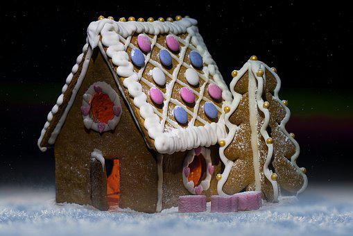 House, Winter, Christmas, Gingerbread