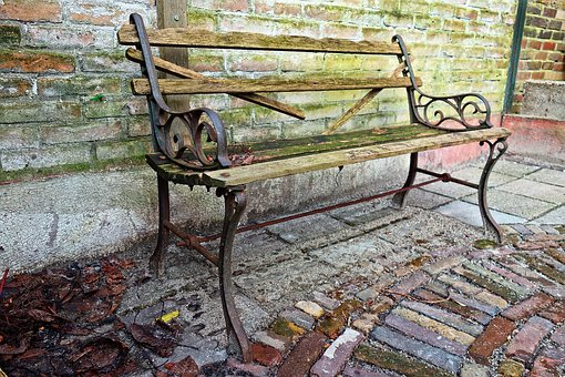 Bench, Wooden Bench, Old Bench, Mouldy Bench