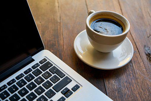Coffee, Computer, The Work, Work, Keyboard, Background