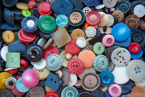 Buttons, Colors, Sewing, Textiles, Variety, Sew, Crafts