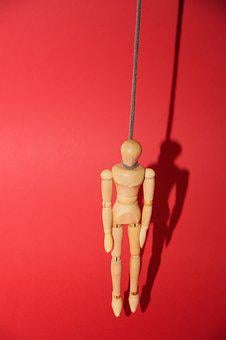 Doll, Suicide, Figure, Holzfigur, Psyche, Hang, Burnout