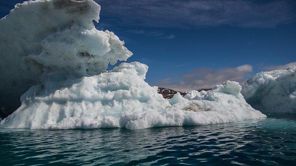 Drift Ice, Mountain, Sea, Wilderness, Ice, Landscape