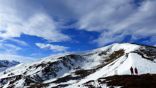 Snow, Mountain, Panoramic, Top, Nature, Landscape