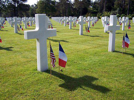 Cemetery, Grave, Tombstone, Remembrance, Cross, Flag