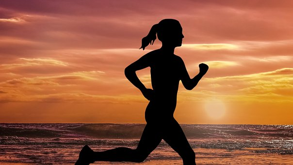 Design, Running, Sunset, Sun, Sea, Water, Sky, Beach