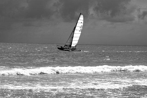 Water, Sea, Watercraft, Ocean, Wave, Sail, Surf