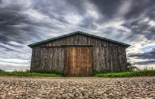 Barn, Sky, Horizontal, Cloud, Farm, Wood, Nature, Home