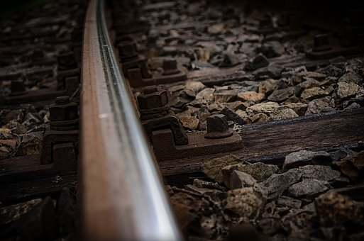 Darkness, Industry, Travel, Wood, Old, Railway Line