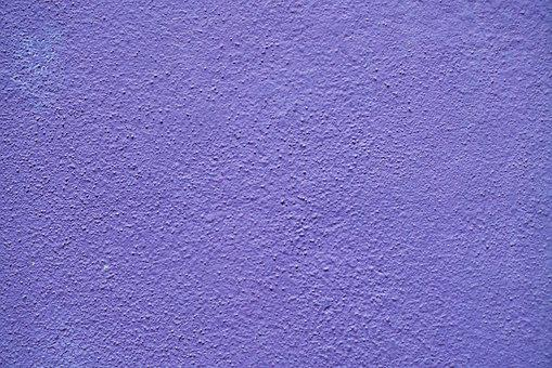 Purple, Wall, Painted, Plaster, Cement, Solid