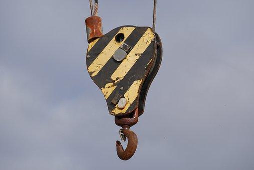 Hanging, Hook, Crane, Construction, Equipment, Metal
