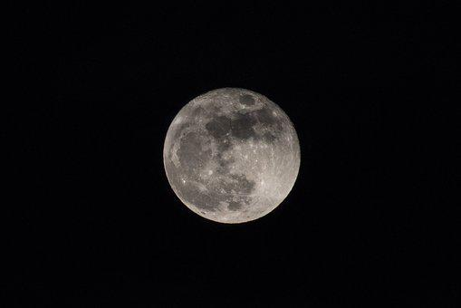 Month, Full Moon, The Sky, Nature, Night