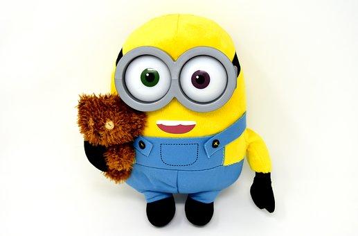 Minion, Teddy, Funny, Soft Toy, Figure, Fun, Toys
