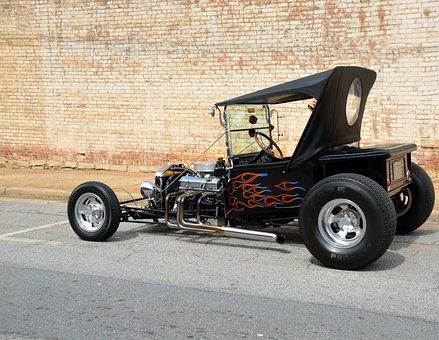 Hot Rod, Car, Customized, Rod, Vehicle, Transportation