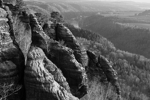 Nature, Landscape, Mountain, Rock, Travel, Human