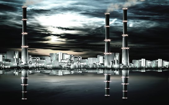 Panorama, Industry, Factory, Chimney, Industrial Plant