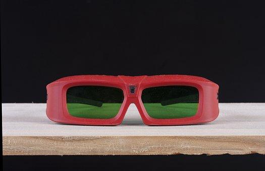 Eyewear, 3d, Cinema, Movie, Watch, Modern, Red, Design