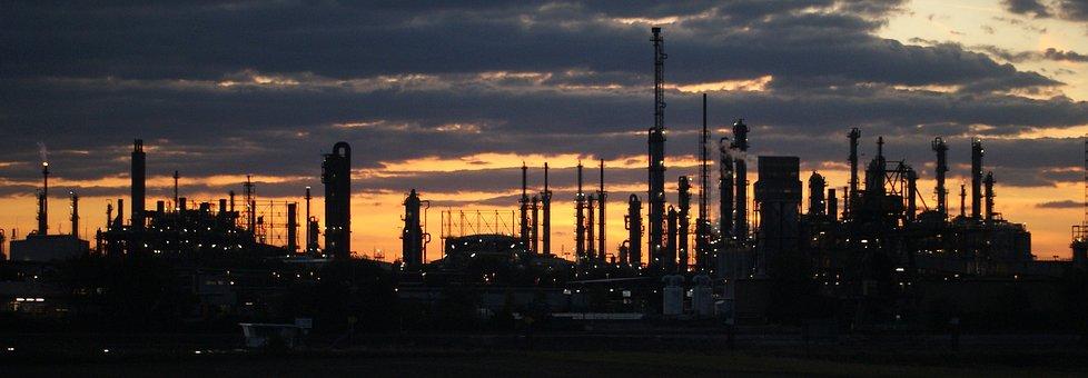 Sunset, Panorama, Dawn, Sky, Panoramic Image, Industry