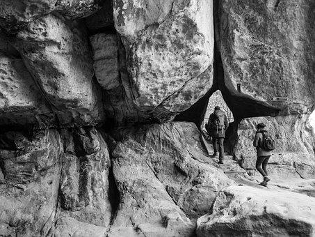 Rock, Nature, Art, Human, Panorama, Mountain