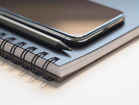 Close- Up, Macro, Pencil, Notebook, Spiral Notebook