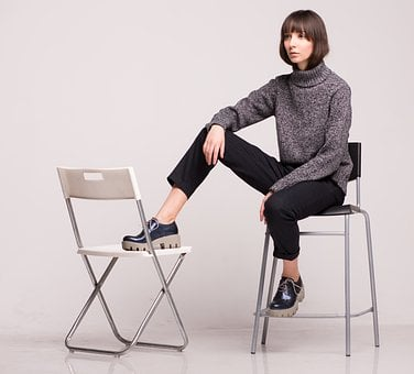Chair, Stool, Young, Woman, Sit, Girl, Lady, Female
