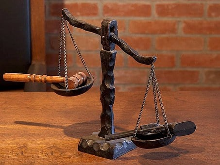 Justice, Scales, Court, Law, Hammer, Judge, Legal