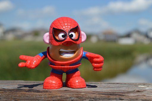 Mr, Potato Head, Spiderman, Superhero, Action Figure