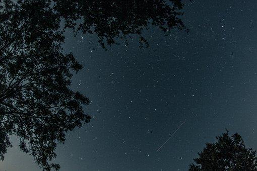 Night Sky, Starry Sky, Aircraft, Star, Sky, Universe