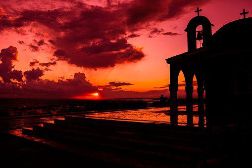 Church, Architecture, Arch, Belfry, Sunset, Light