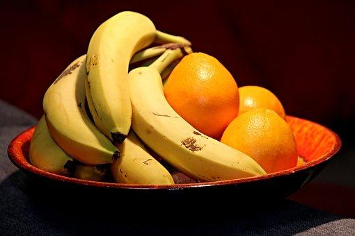 Fruit, Bananas, Oranges, Yellow, Healthy, Bio, Fruits