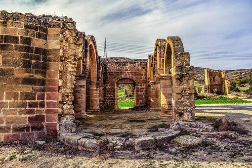 Cyprus, Ayios Sozomenos, Church, Gothic, 15th Century