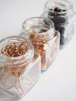 Glass, Jar, Desktop, Container, Stationary, Gold