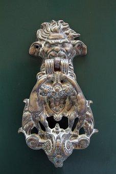 Door Knocker, Sculpture, Art, Door, Knocker, Metal, Old