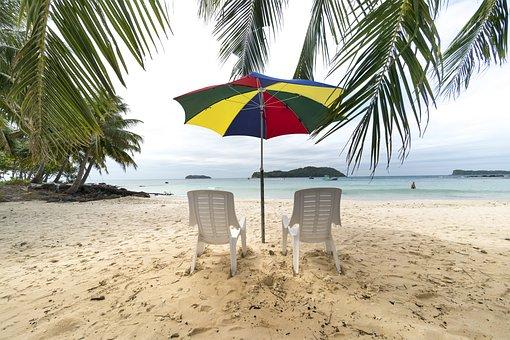 Phuquoc, Island, Vietnam, Chair, The Beach, Tree