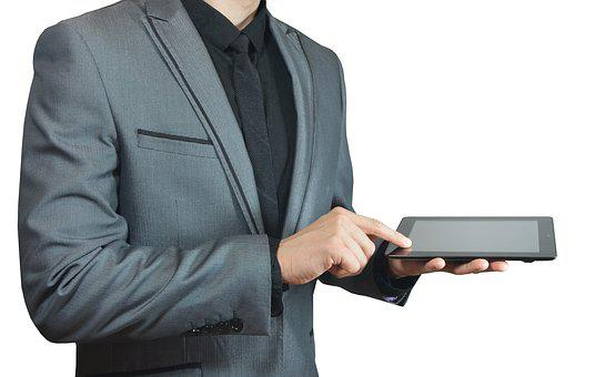 Business, Wireless, Isolated, Laptop, Portable