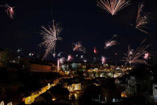 Festival, Darkness, Flare-up, Fireworks, Light