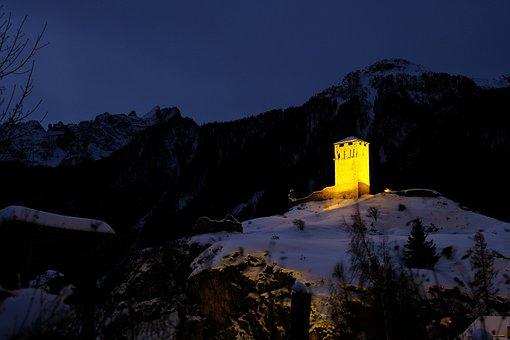 Nature, Panorama, Mountain, Snow, Travel, Winter