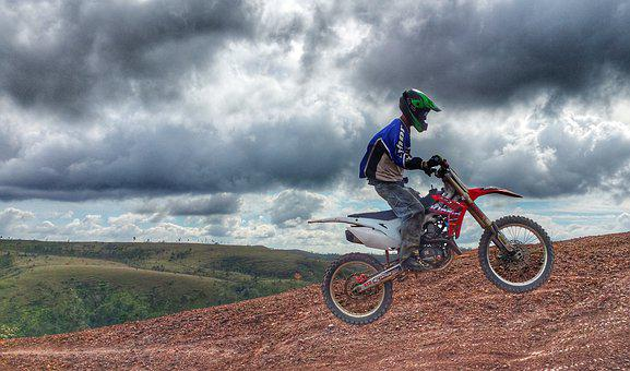 Bike, Motocross, Sport, Jump, Ramp, Honda, Motorcycle