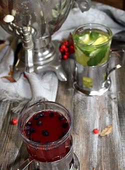Samovar, Tea Party, Tea, Food, Dessert, Maker