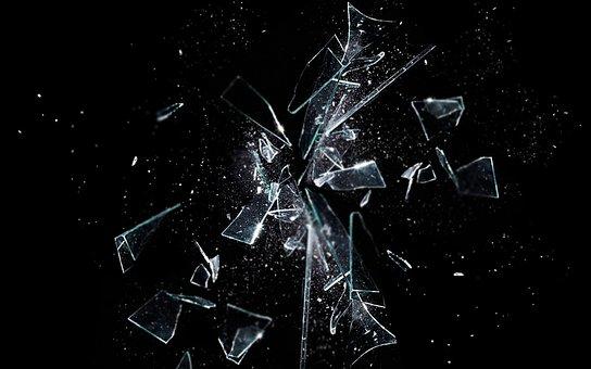 Dark, Black, Background, Glass, Shatter, Broken, Mirror