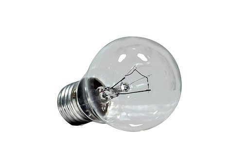 Light Bulb, Isolated, Transparent, Lamp, Electricity