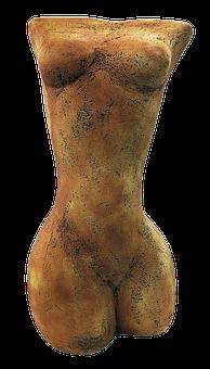 Torso, Figure, Female, Ceramic, Woman, Sculpture, Art