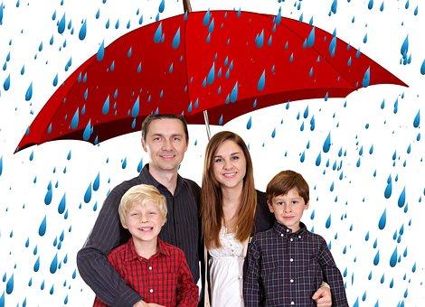Family, Umbrella, Human, Bless You, Security, Group