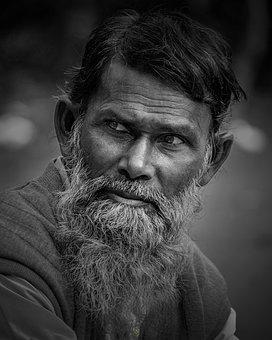 Portrait, People, Facial Hair, Adult, Man, Mustache