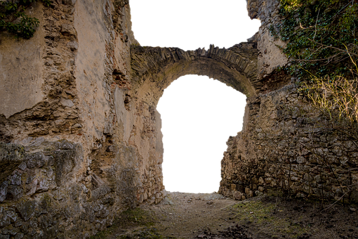 Castle, Middle Ages, Ruin, Archway, Old, Weathered