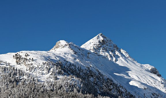 Snow, Mountain, Mountain Summit, Winter, Ice, Panorama