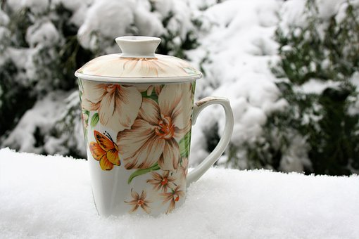 Mug, Tea, Winter, Snow, Cold, At The Court Of, Frost