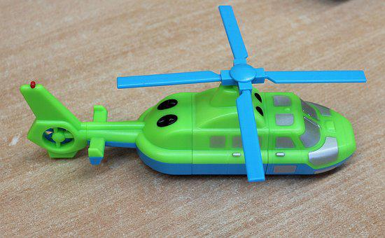 Toy, Helicopter, Children, Toys, Play, Childhood, Green