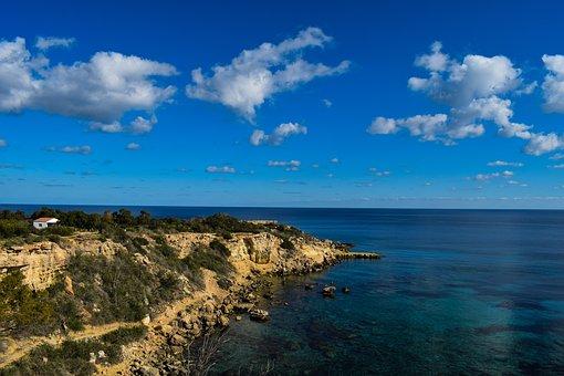 Nature, Sky, Clouds, Sea, Cliff, Coast, Cape, Panoramic